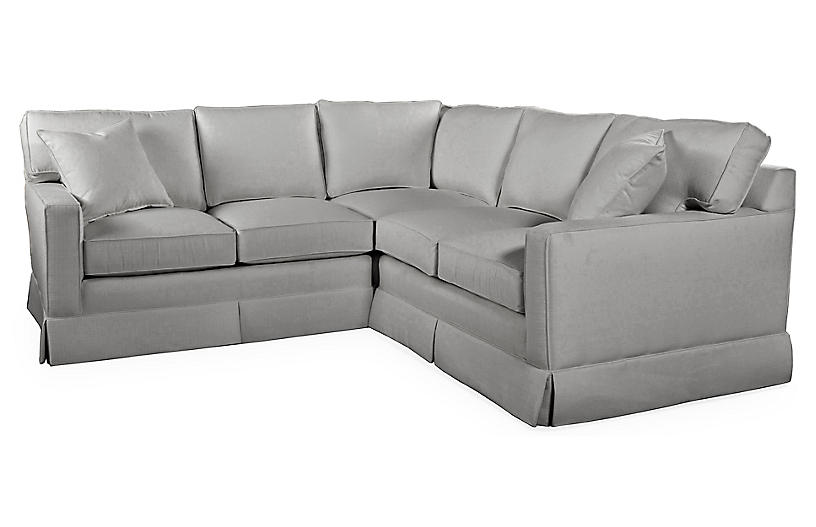Milburn Sectional, Gray Crypton
