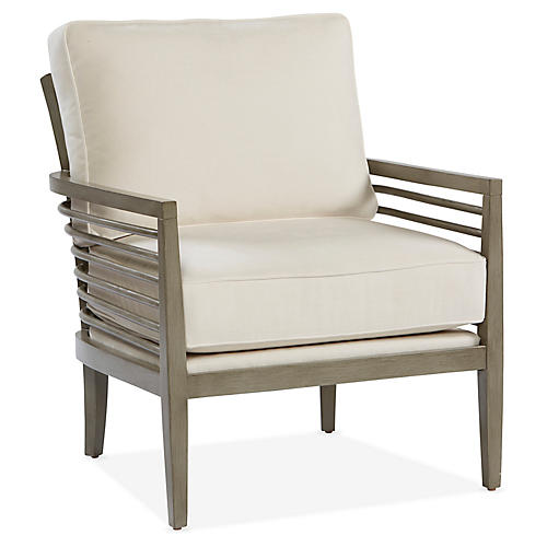Java Accent Chair, White Crypton