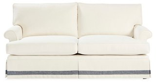 Montrose Sofa, White/Chambray Crypton   Sofas   Sofas U0026 Settees   Living  Room   Furniture | One Kings Lane