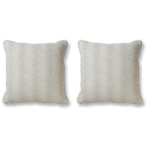 S/2 Breakout Pillows, Pewter
