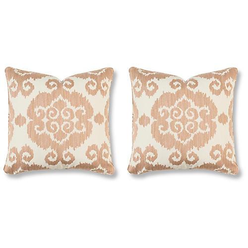 S/2 Lucca Villa 20x20 Pillows, Blush