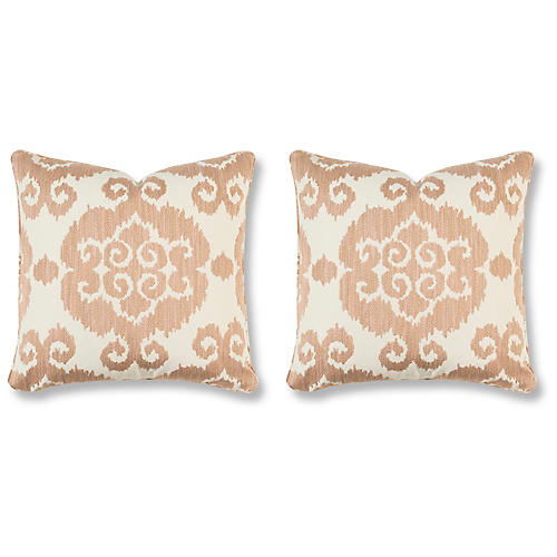 S/2 Lucca Villa 20x20 Pillows, Blush