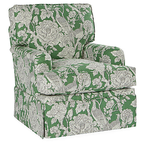 Winston Swivel Club Chair, Jade