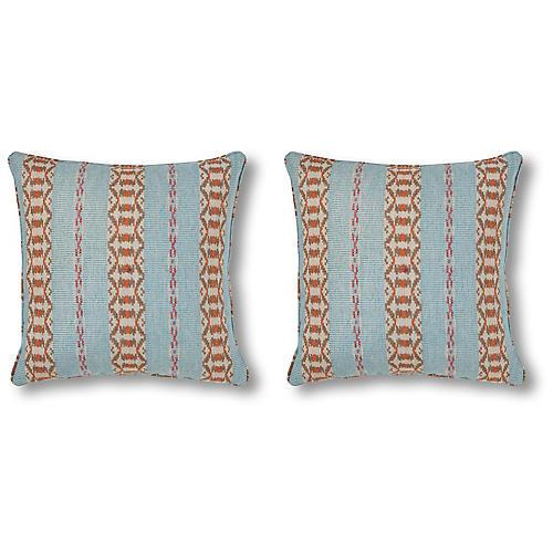 S/2 Payson 20x20 Pillows, Blue/Multi