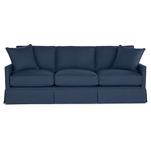 Auburn Sofa, Indigo Linen