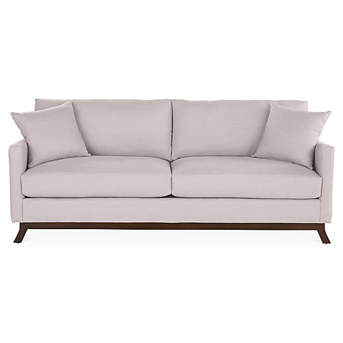 Edwards Sofa, Quartz Linen
