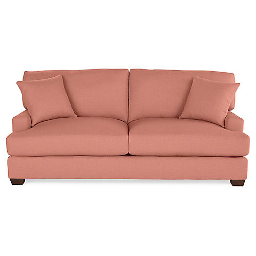 Logan Sofa, Rose Linen