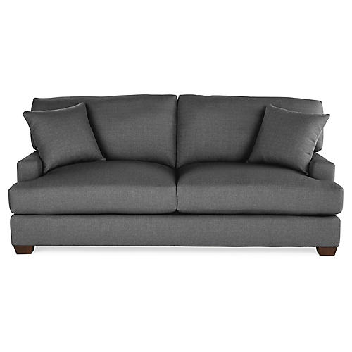 Logan Sleeper Sofa, Charcoal Crypton