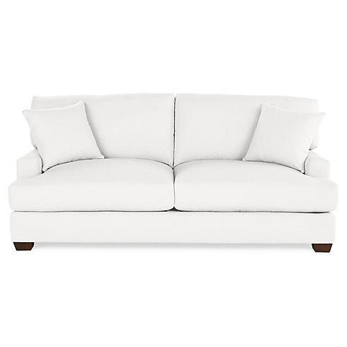 Logan Sleeper Sofa, White Linen