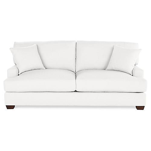 Logan Sleeper Sofa, White Linen