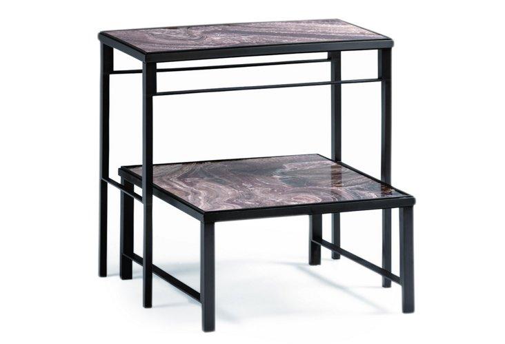 Bulldog Tables, Set of 2