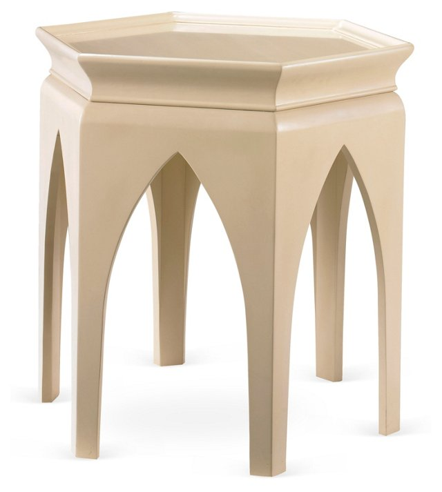 Marrakech Side Table, Ivory