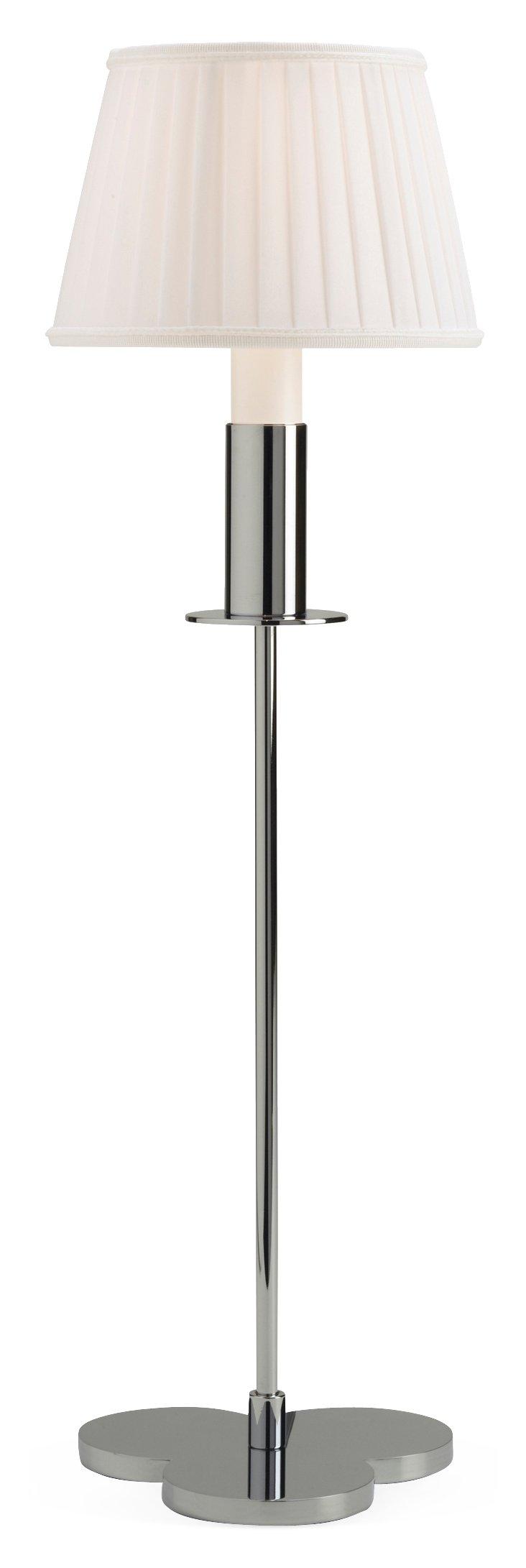 "Petite Champs 23"" Table Lamp, Chrome"