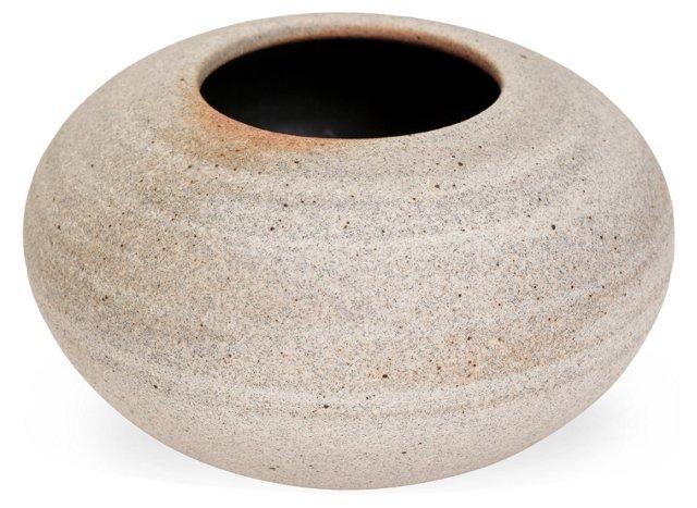 Humble Ceramics Moon Vase, Cream