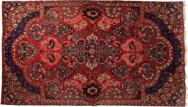 """Vintage Oriental Rug, 9' x 6'6"""""""