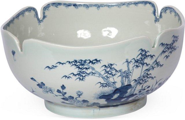 Large Chinese Cut Corner Bowl