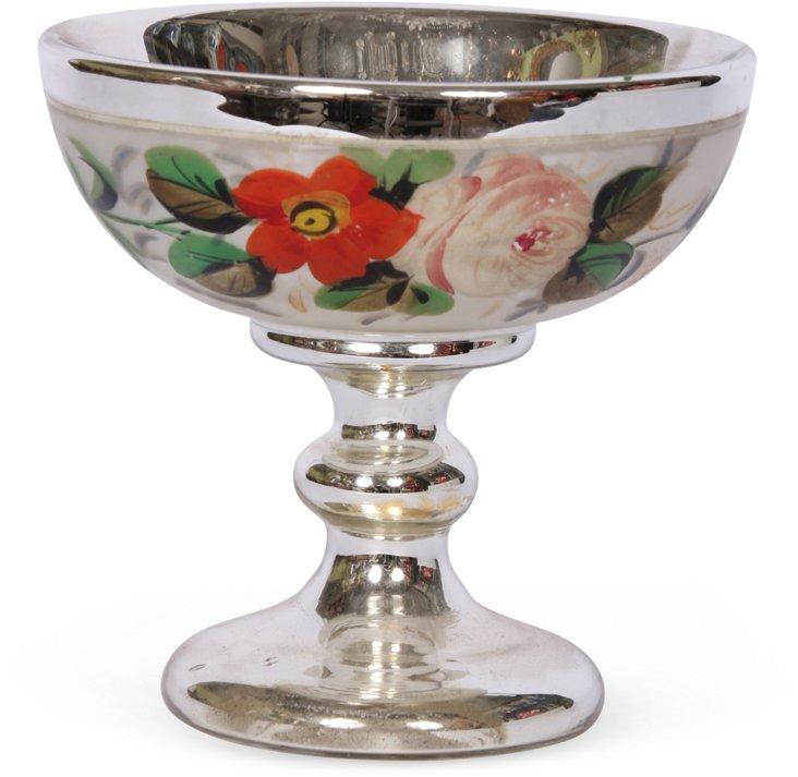19th-C. Mercury Glass Compote