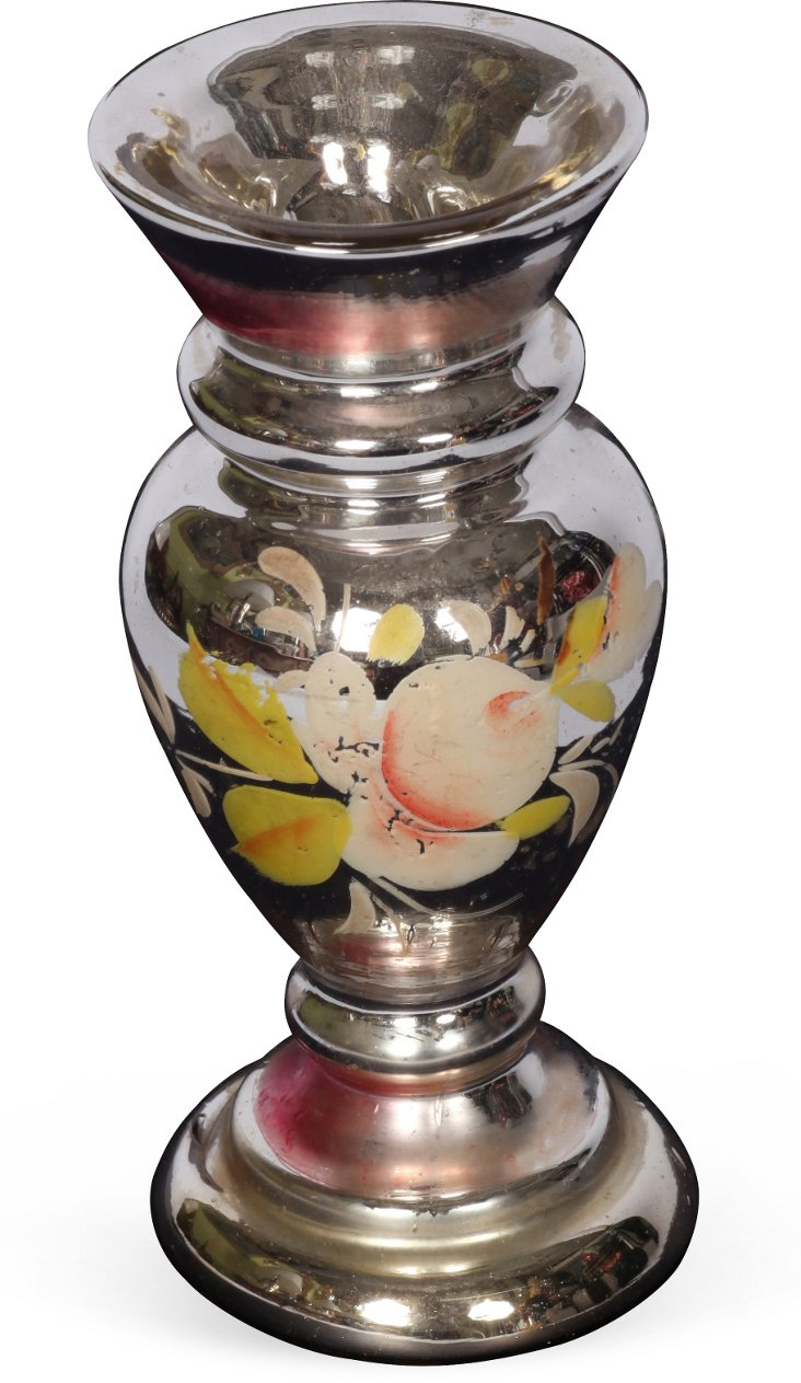 19th-C. Mercury Glass Vase I