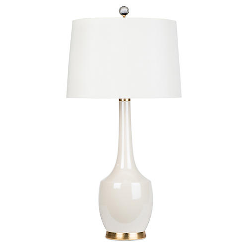 Exclusive Harlow Lamp, Opalescent Cream