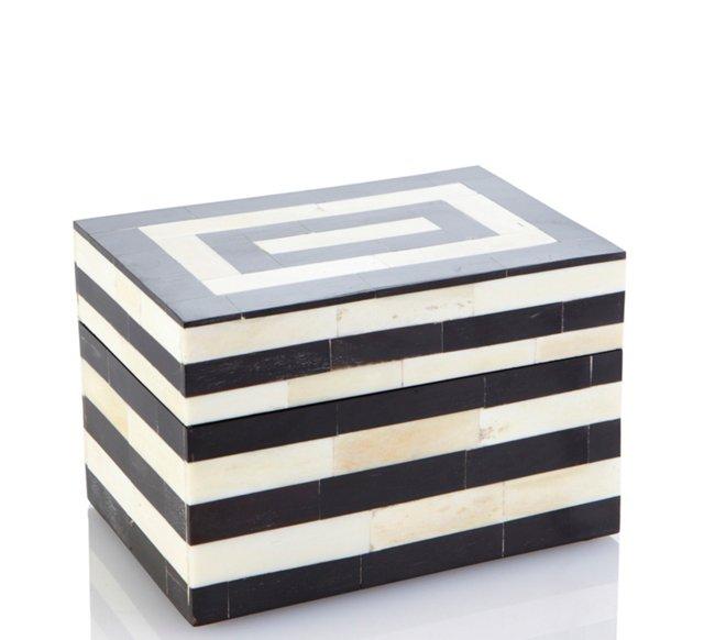 4x6 Striped Bone & Horn Box