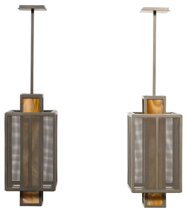Contemporary Pendants, Pair