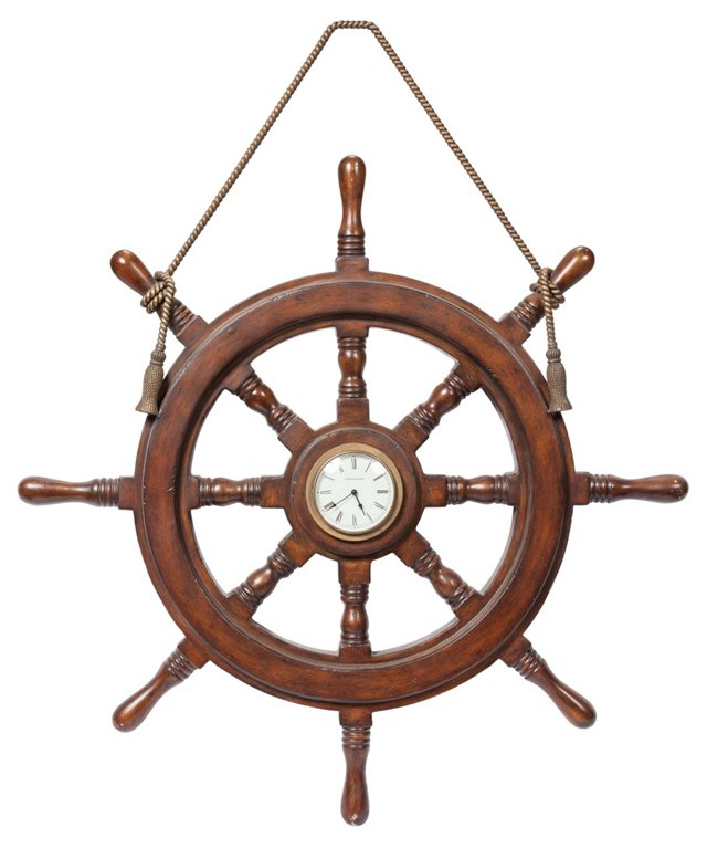 Ship's Wheel Clock