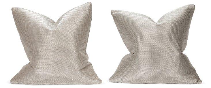 Silver Pillows, Pair