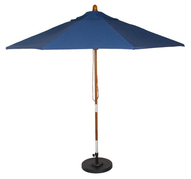 Dupione Umbrella, Blue (w/o Stand)