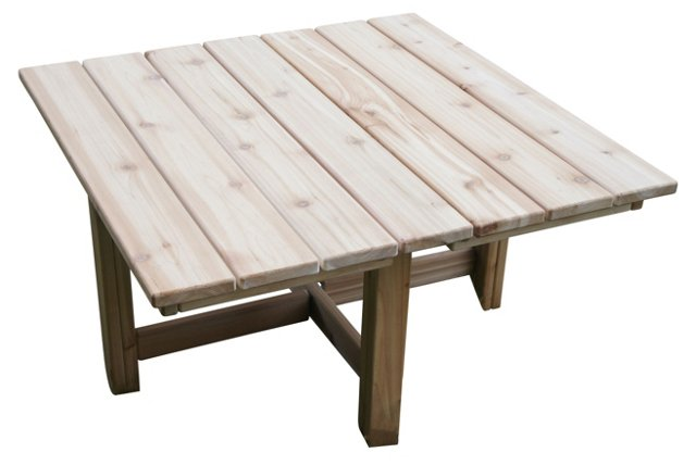 "Folding 36"" Conversation Table, Square"