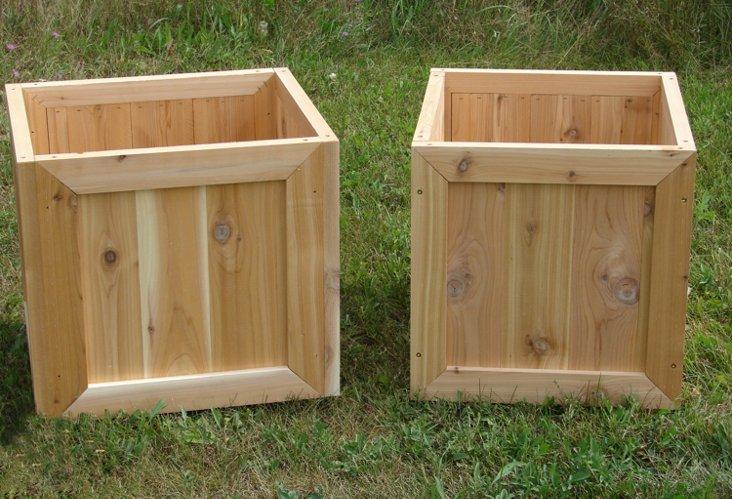 Cedar Planter Set