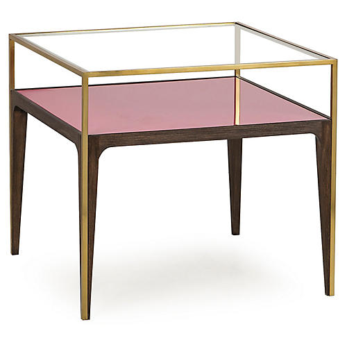 Rubylite Side Table, Clear