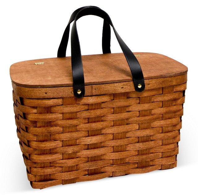 Picnic Basket w/ Gingham Liner