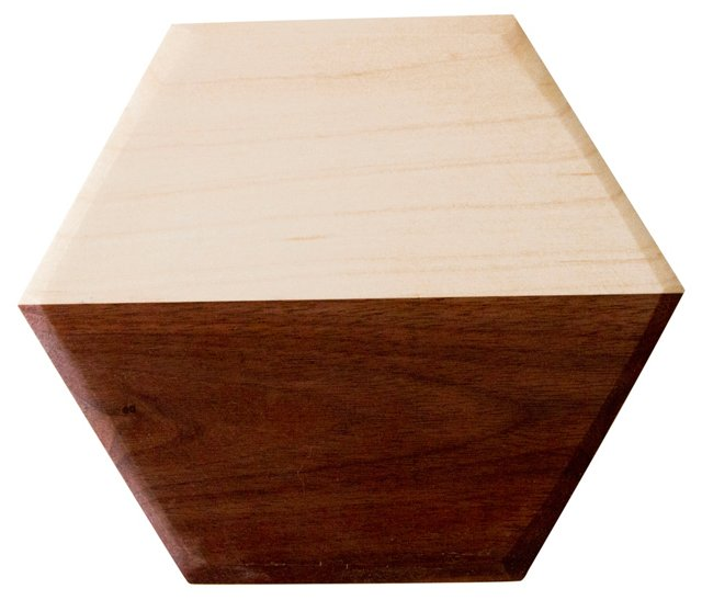 Walnut & Maple Hexagon Board, Small