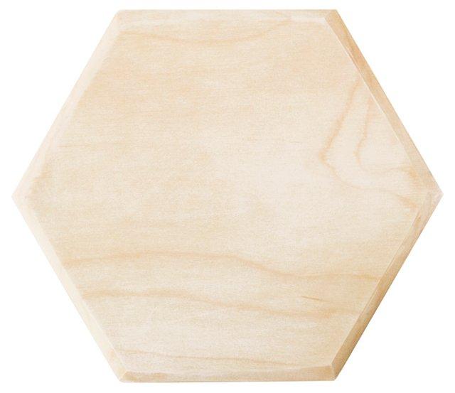 Maple Hexagon Serving Board, Small