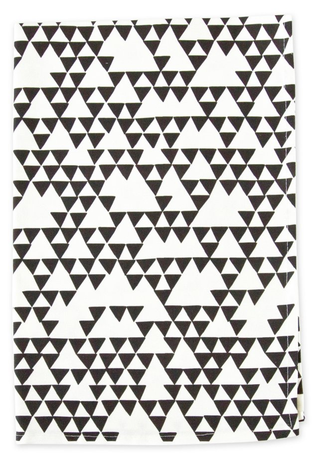 Linen Blend Tea Towel, Triangles