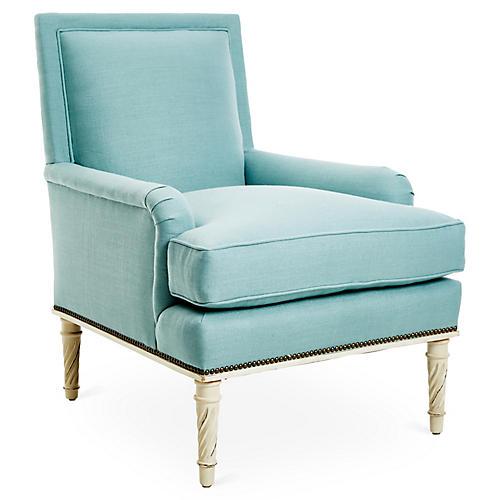 Azure Chair, Blue Linen