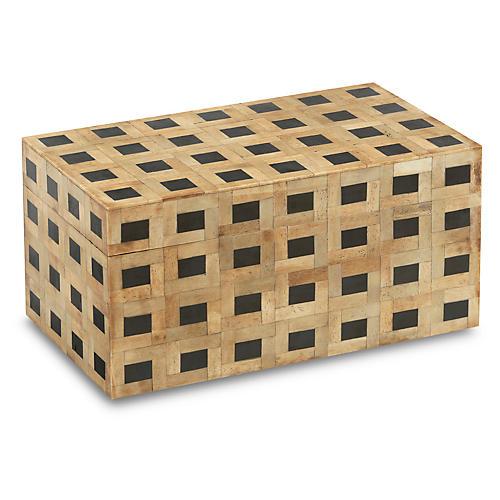 """14"""" Cornelius Box, Natural/Black"""