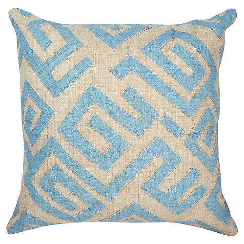 Bambala 22x22 Pillow, Blue