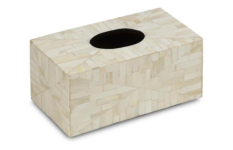 Amala Rectangular Tissue Box Cover, Beige