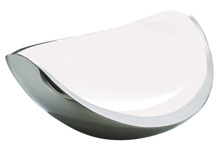 Stainless Ninna Nanna Fruit Bowl, White