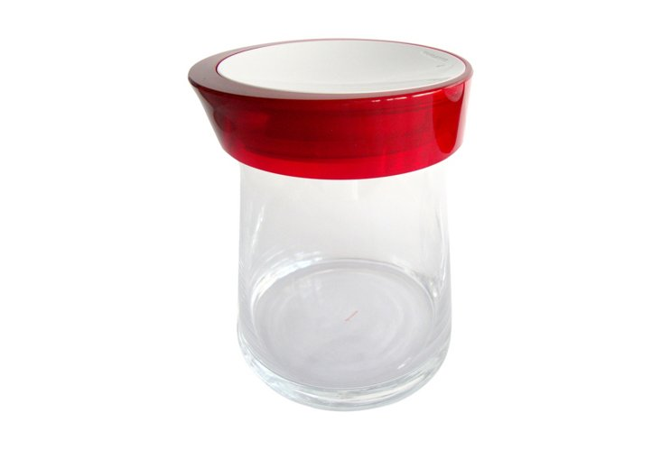Medium Glamour Jar, Red