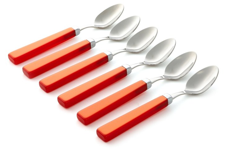 Set of 6 Spoons, Orange