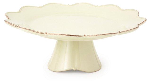 Large Pedestal Plate, Sage