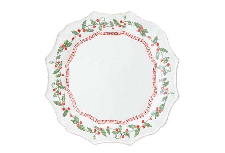 S/4 Holly Days Dinner Plates