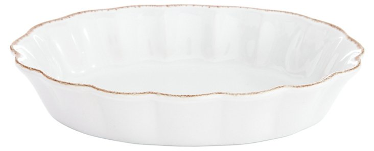 Small Oval Scalloped Baker
