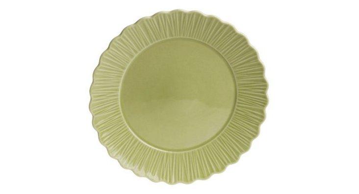 S/4 Dinner Plates, Green