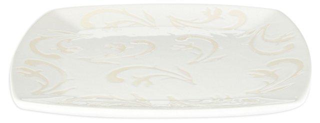 Square Platter, White
