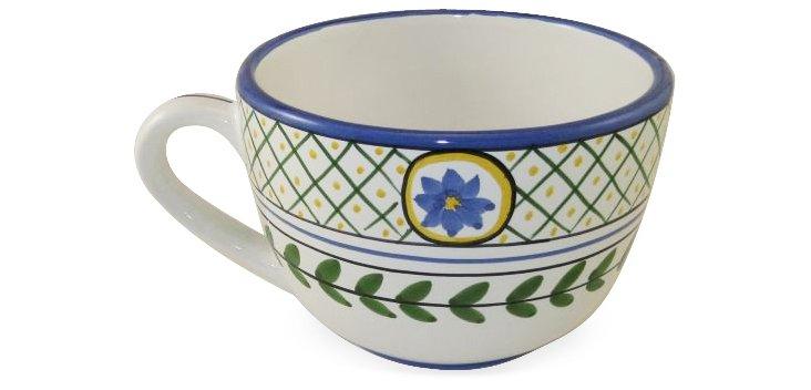 Breakfast Mug, Flower and Leaf