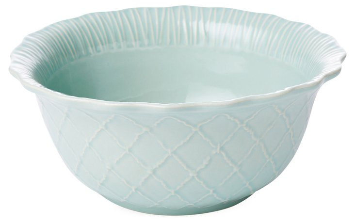Large Serving Bowl, Blue