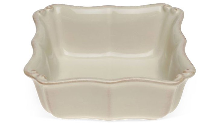 S/4 Square Soup/Cereal Bowls, Cream